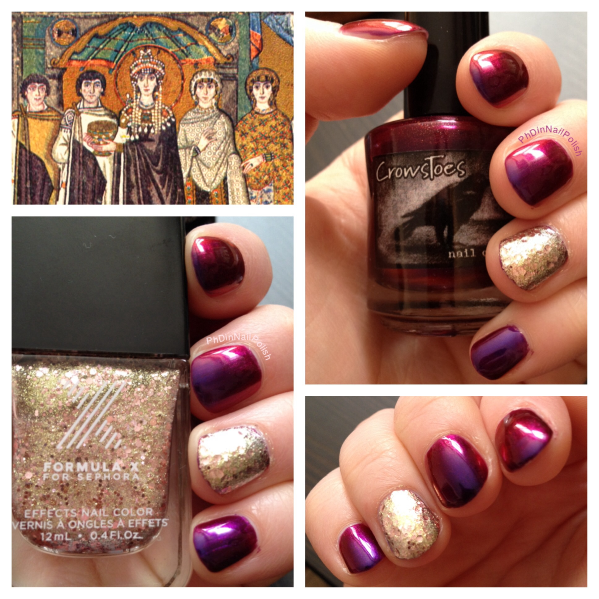 Nail Art History 101 Byzantine Mosaics With Crowstoes And Sephora
