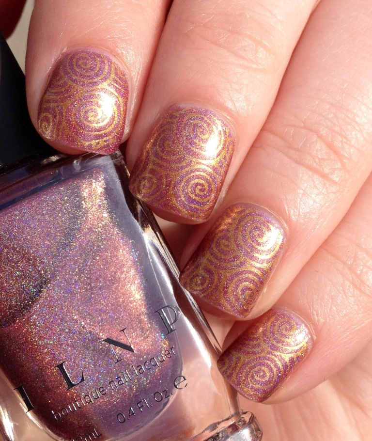 ilnp champagne blush stamping moyou gothic gala