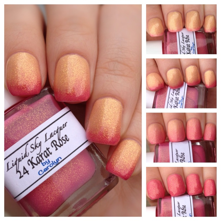 liquid sky lacquer thermal pink gold 24 karat  rose