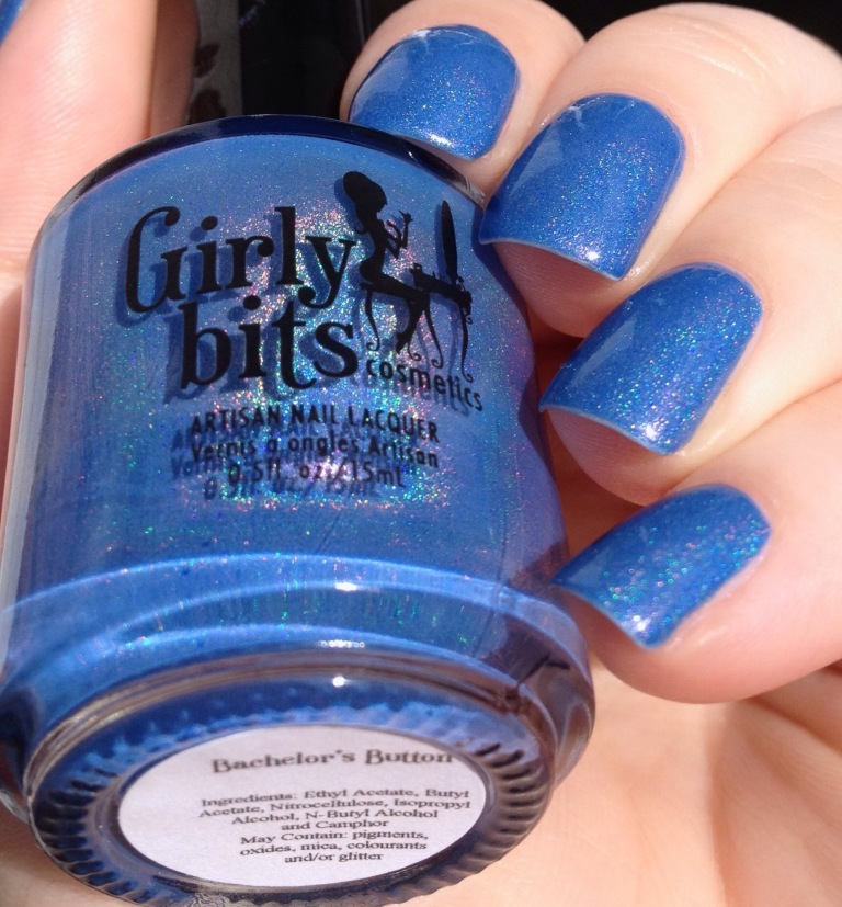 girly bits bachelor's button blue