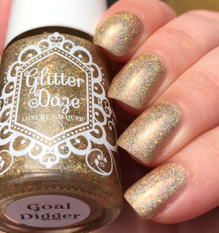 glitter daze goal digger gold holo