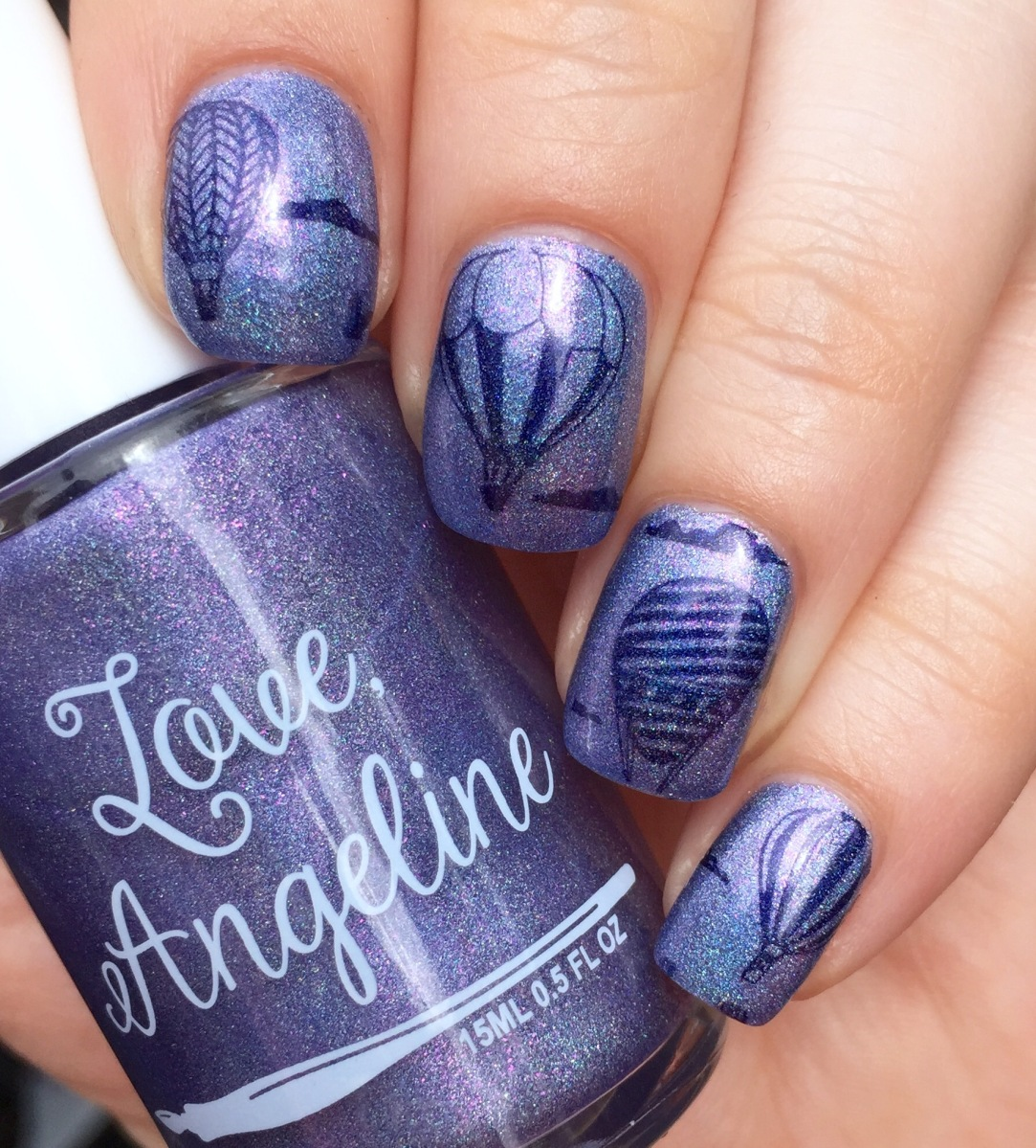 Hot Air Balloon Stamping with Love, Angeline and Colors by Llarowe