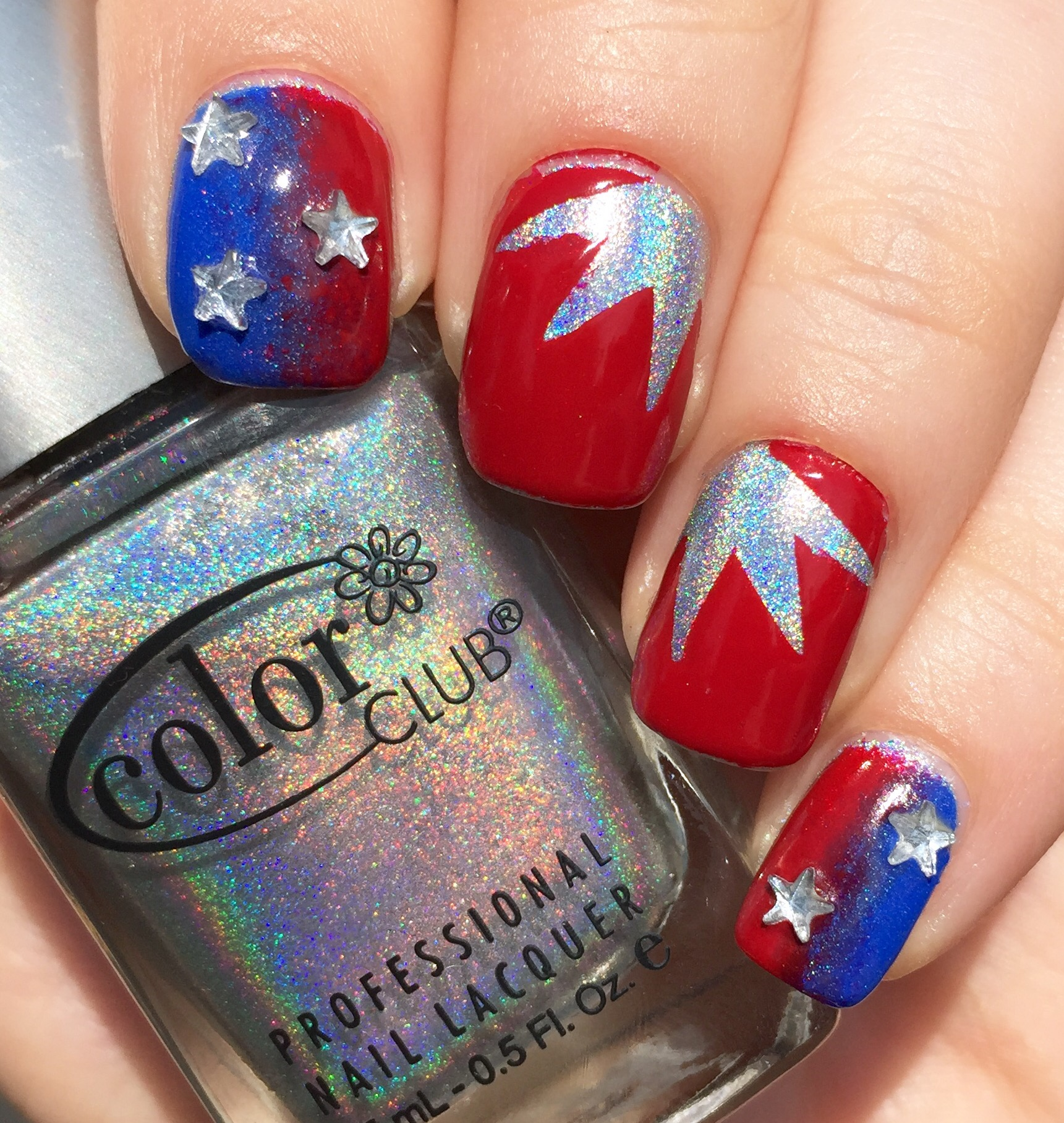 Fourth Of July Nails With All The Things