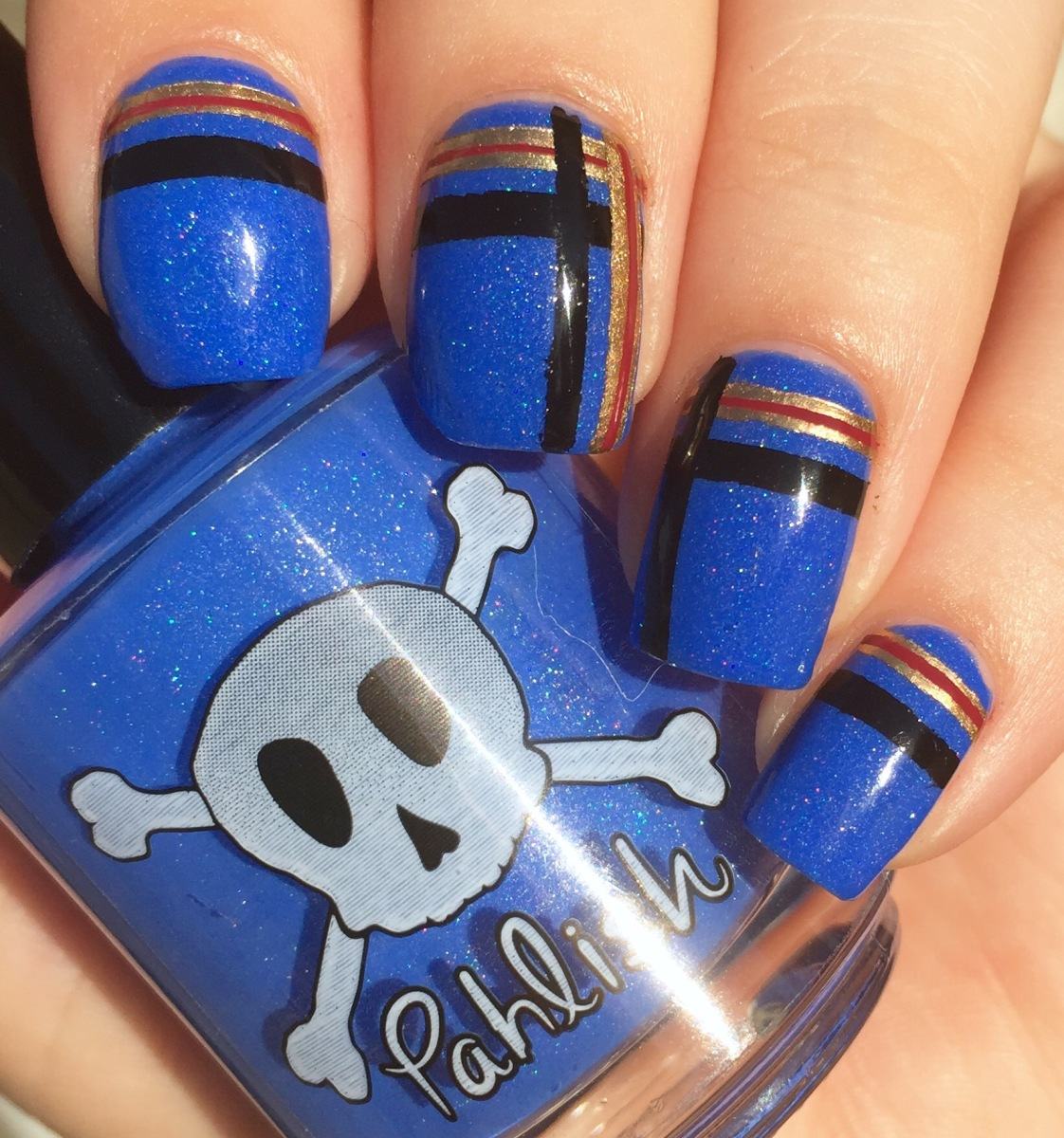 Plaid (Notre Dame) Gameday Nails!