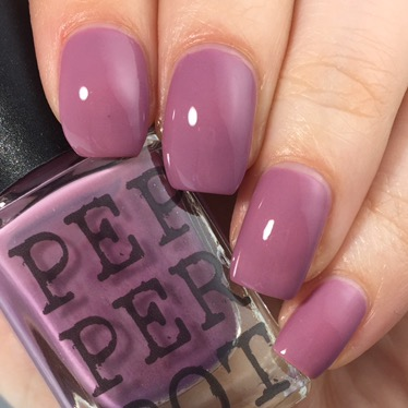 Mauve purple creme nail polish