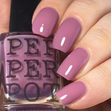 Mauve purple creme nail polish
